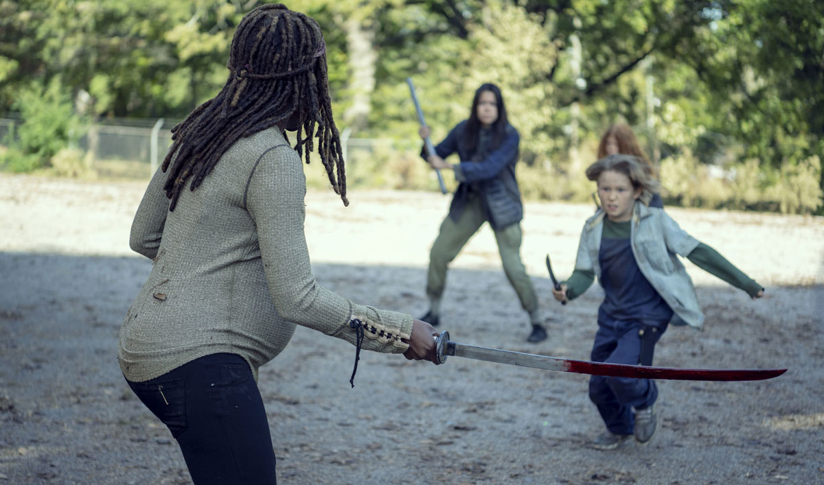 Inside <em>The Walking Dead</em> Episode 14 — Cast and Creators on the Tough Choices Michonne Made to Protect Judith