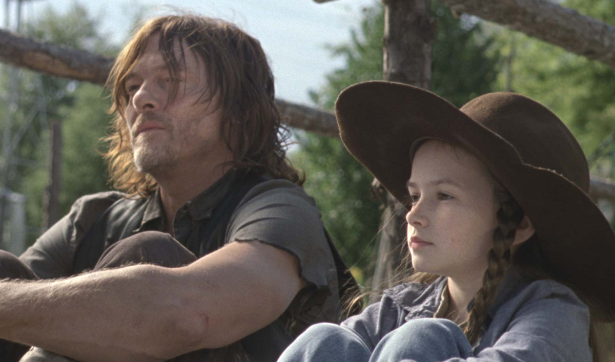 Sneak Peek of <em>The Walking Dead</em> Episode 14 — Judith Reminds Daryl What They're Fighting For