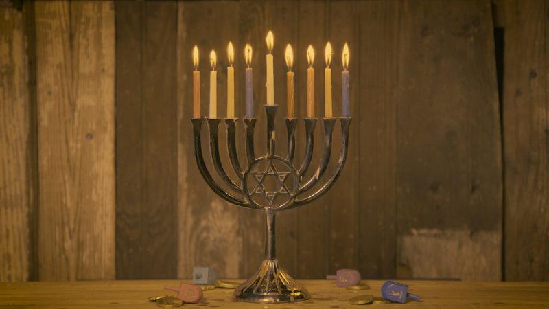 Light Up Your Hanukkah Celebration With Our Ever-Burning Menorah Log