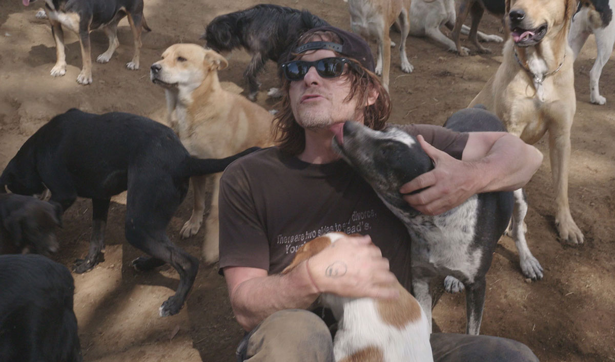 """I'm in Heaven"": Norman Visits a Dog Sanctuary in <em>Ride With Norman Reedus</em> Episode 4"
