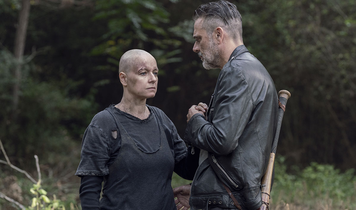 (SPOILERS) Watch the Alpha and Negan Scene Everyone Is Talking About From <em>The Walking Dead</em> Episode 12
