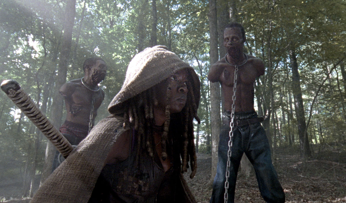 Something Is Very Different for Michonne in the Opening Minutes of Sunday's <em>The Walking Dead</em>