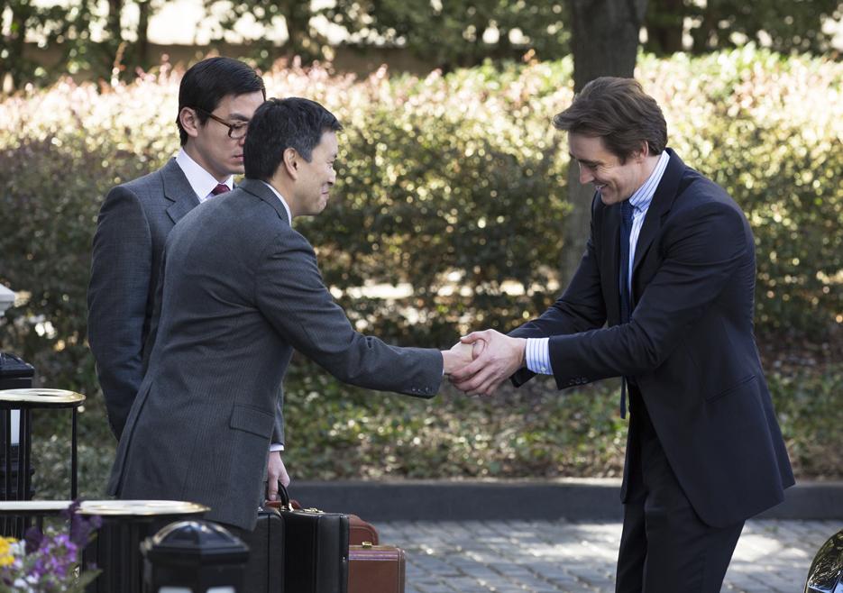 Hirohiko Taketa (Scott Takeda), Shuji Kobayashi (Han Soto) y Joe MacMillan Foto: Blake Tyers/AMC