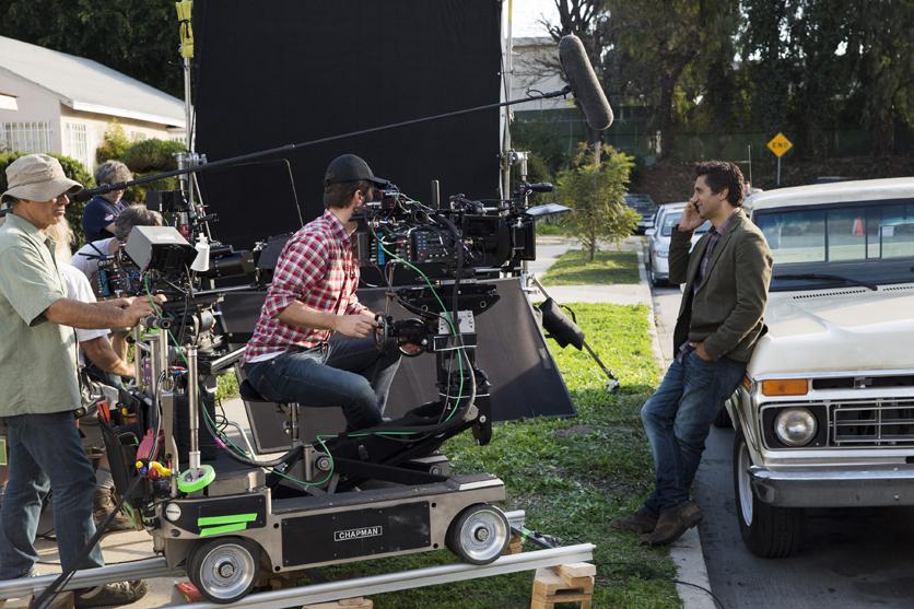 Cliff Curtis as Travis – Fear the Walking Dead _ Season 1, Episode 1 _ BTS – Photo Credit: Justin Lubin/AMC