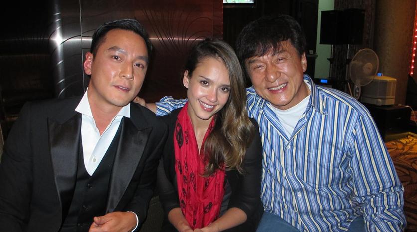 Daniel Wu, Jessica Alba y Jackie Chan