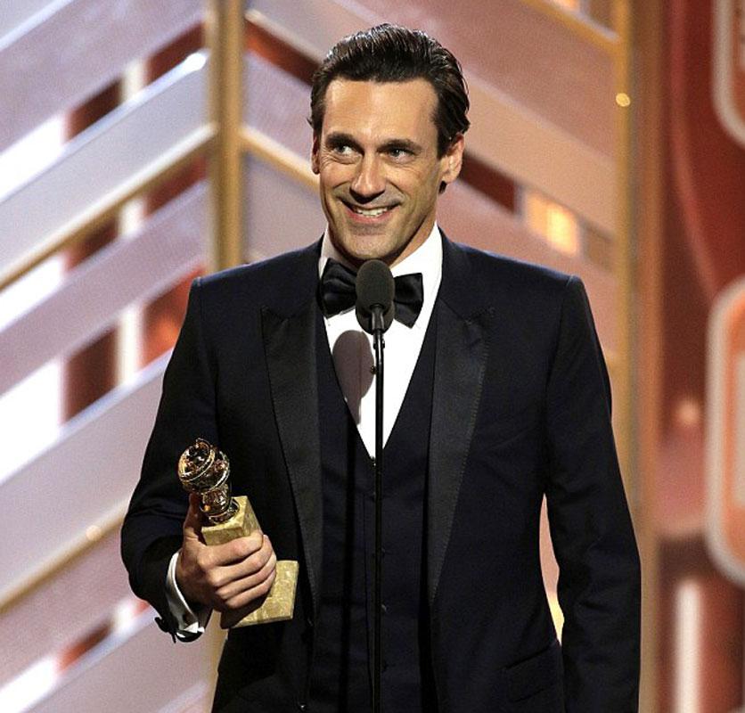 El actor gana su segundo Globo de Oro