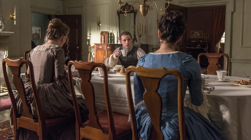 Mary Woodhull (Meegan Warner),  Anna Strong (Heather Lind) y Abe Woodhull (Jamie Bell) en Episodio 1 Foto de Antony Platt/AMC