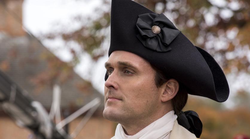 Benedict Arnold (Owain Yeoman) en Episodio 1 Foto de Antony Platt/AMC