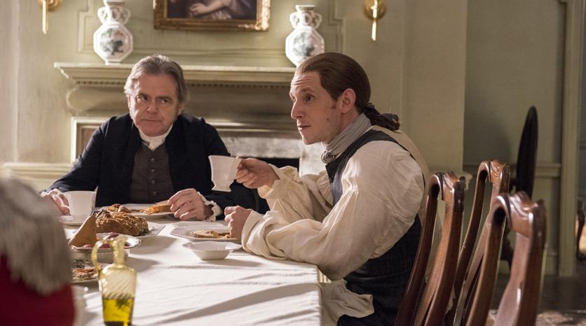 Judge Richard Woodhull (Kevin McNally) y Abe Woodhull (Jamie Bell) en Episodio 1 Foto de Antony Platt/AMC