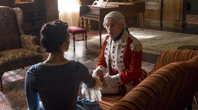 Anna Strong (Heather Lind) y Major Hewlett (Burn Gorman) en Episodio 1 Foto de Antony Platt/AMC