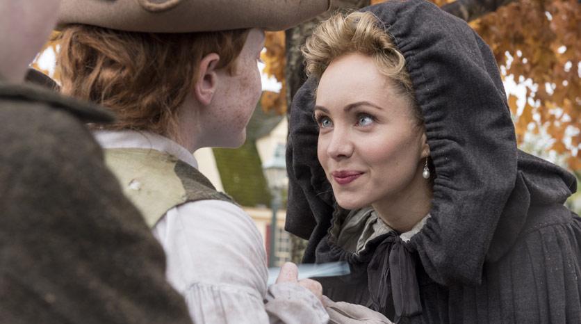 Peggy Shippen (Ksenia Solo) en Episodio 1 Foto de Antony Platt/AMC