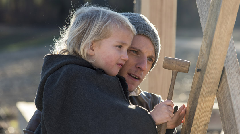 Abe Woodhull (Jamie Bell) en el Episodio 3 Foto de Antony Platt/AMC