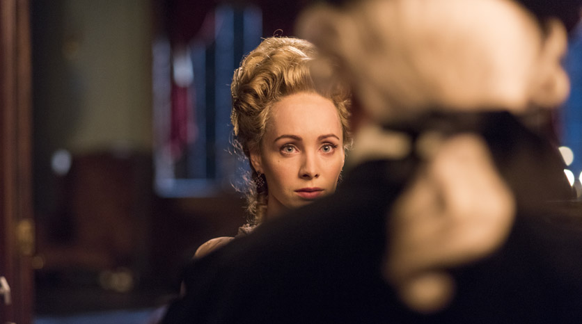 Peggy Shippen (Ksenia Solo) en el Episodio 3 Foto de Antony Platt/AMC