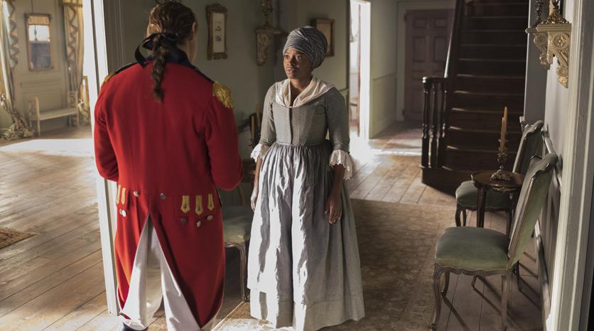 John André (JJ Feild) y Abigail (Idara Victor) en el Episodio 4 Foto de Antony Platt/AMC