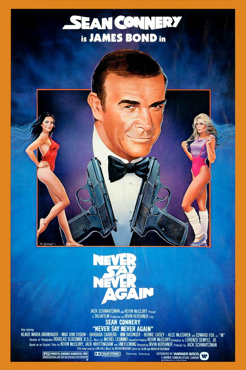 never say never again sean connery bond