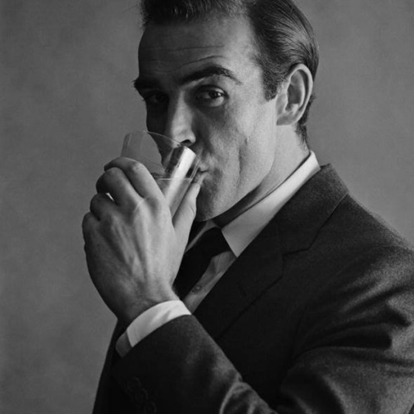 sean connery drinking