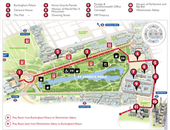 The Mall London Map.Royal Roundup Interactive Map Of Wedding Route Released