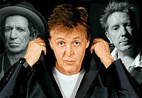 Keith Richards, Paul McCartney and John Lydon