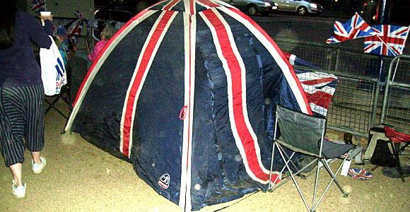 A union flag tent