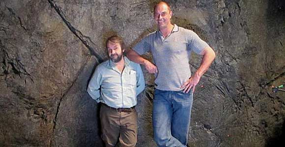 Peter Jackson and Conan Stevens