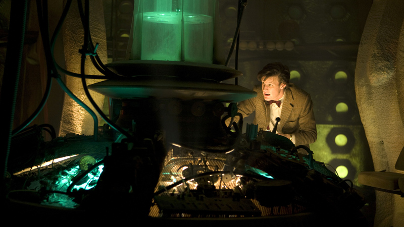 The Doctor inside the TARDIS