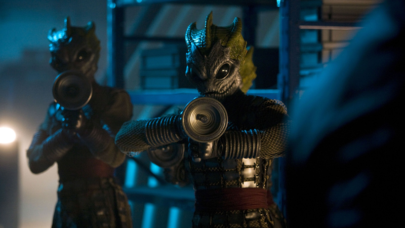 Silurians are armed