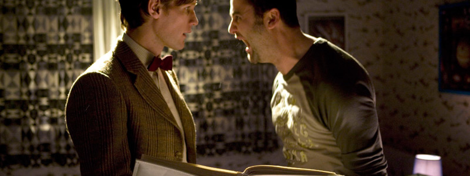 Alex screams beside the Doctor
