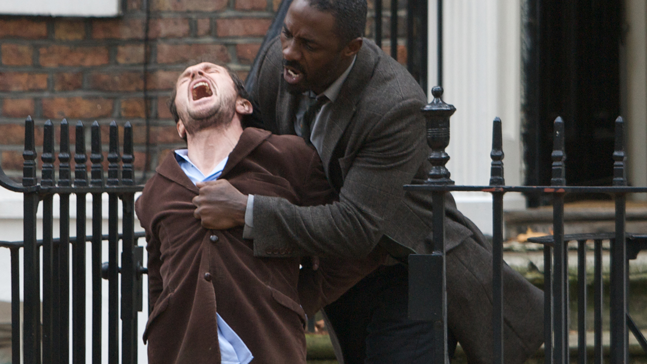 Luther fights Mark outside