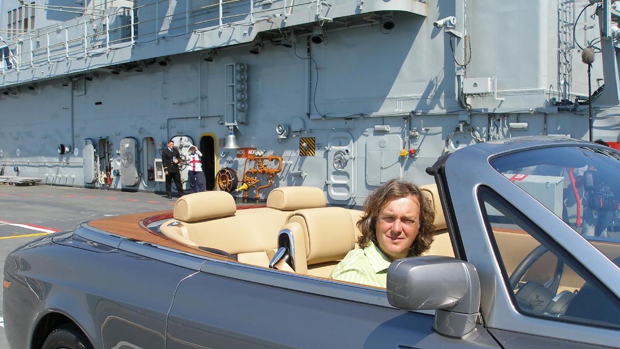 James thinks the Rolls-Royce Phantom Drophead suits him