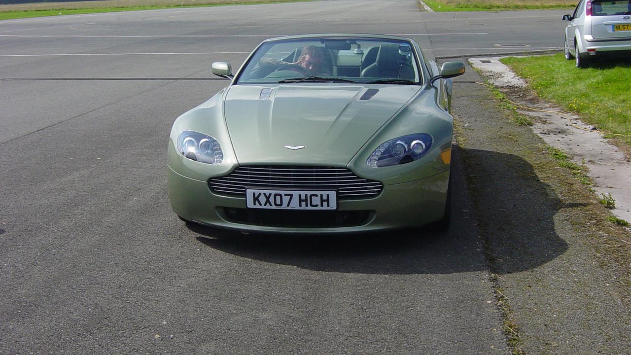 Richard in an Aston Martin V8 Vantage Roadster.