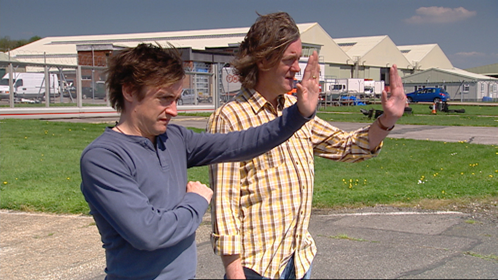 Richard and James watch Jeremy test his police car