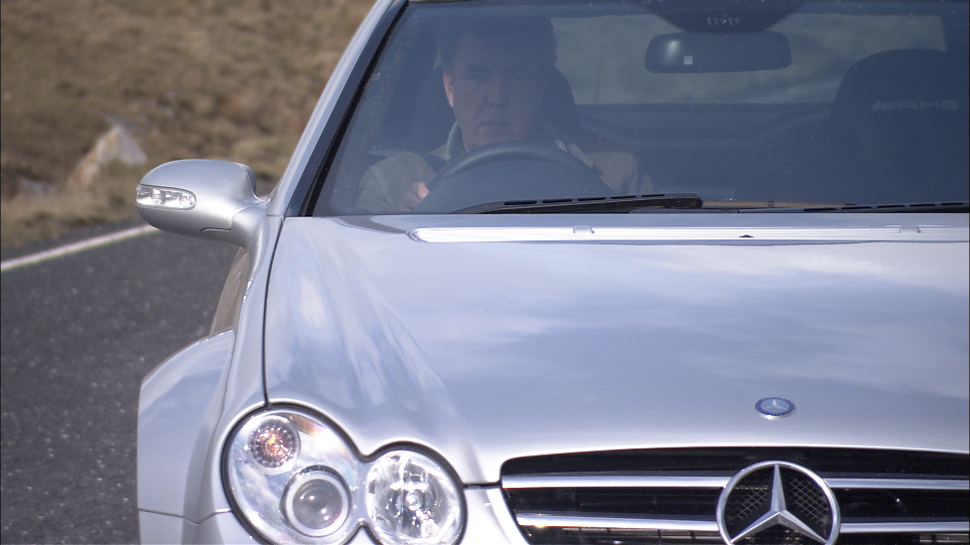 Jeremy runs out of British Isles in the Mercedes CLK Black