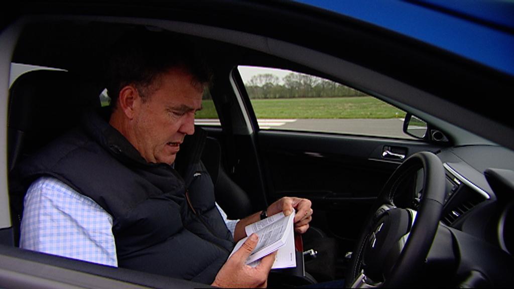Jeremy resorts to the Mitsubishi's complicated handbook
