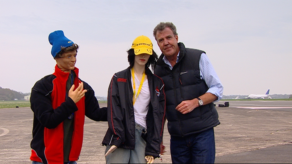 Jeremy poses with an unrealistic rally enthusiast