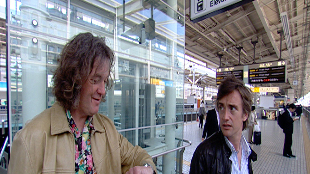 James and Richard can't miss a train