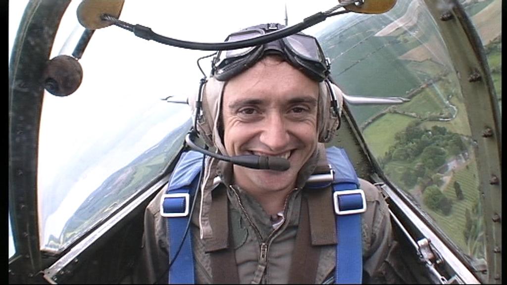 Richard on his flight to Belgium
