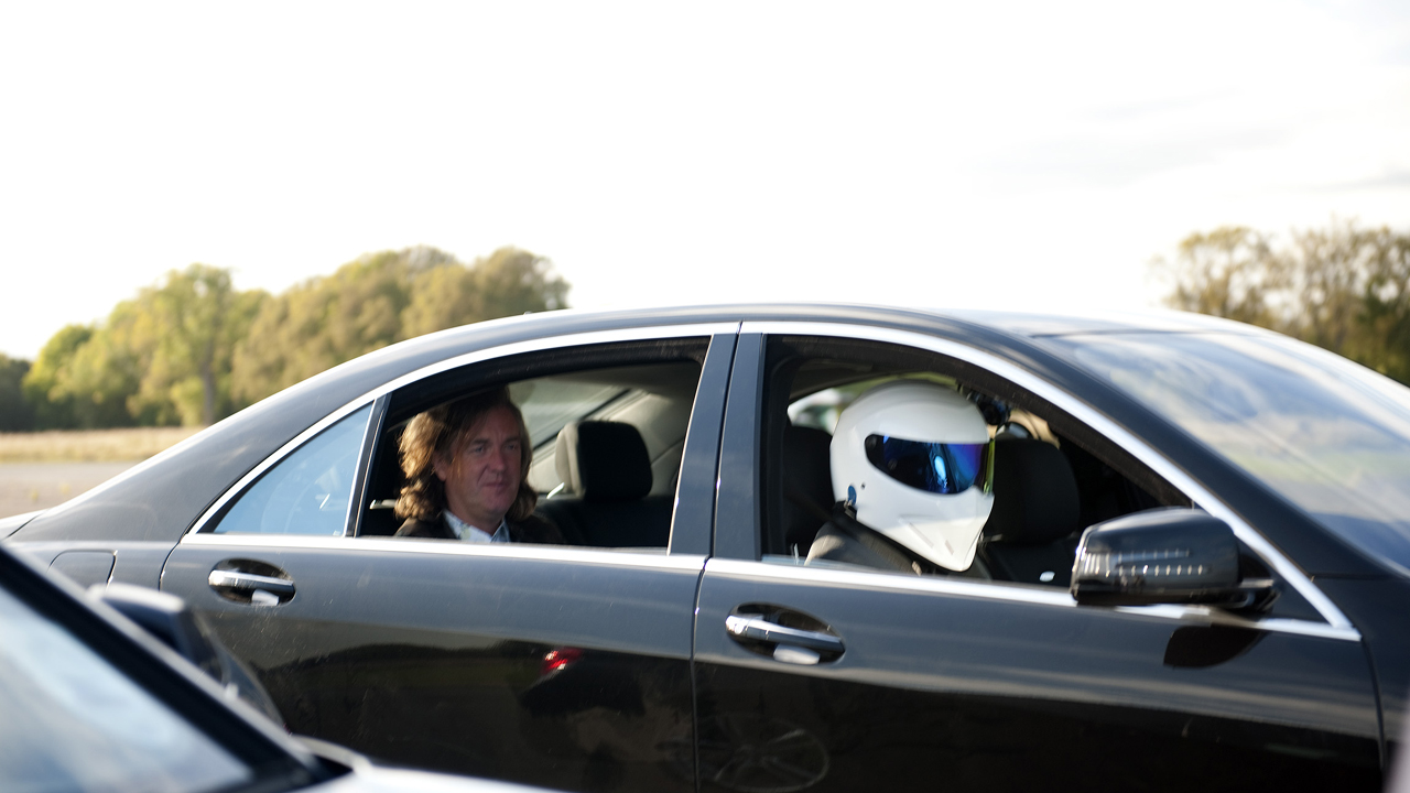 James puts The Stig in a bad mood