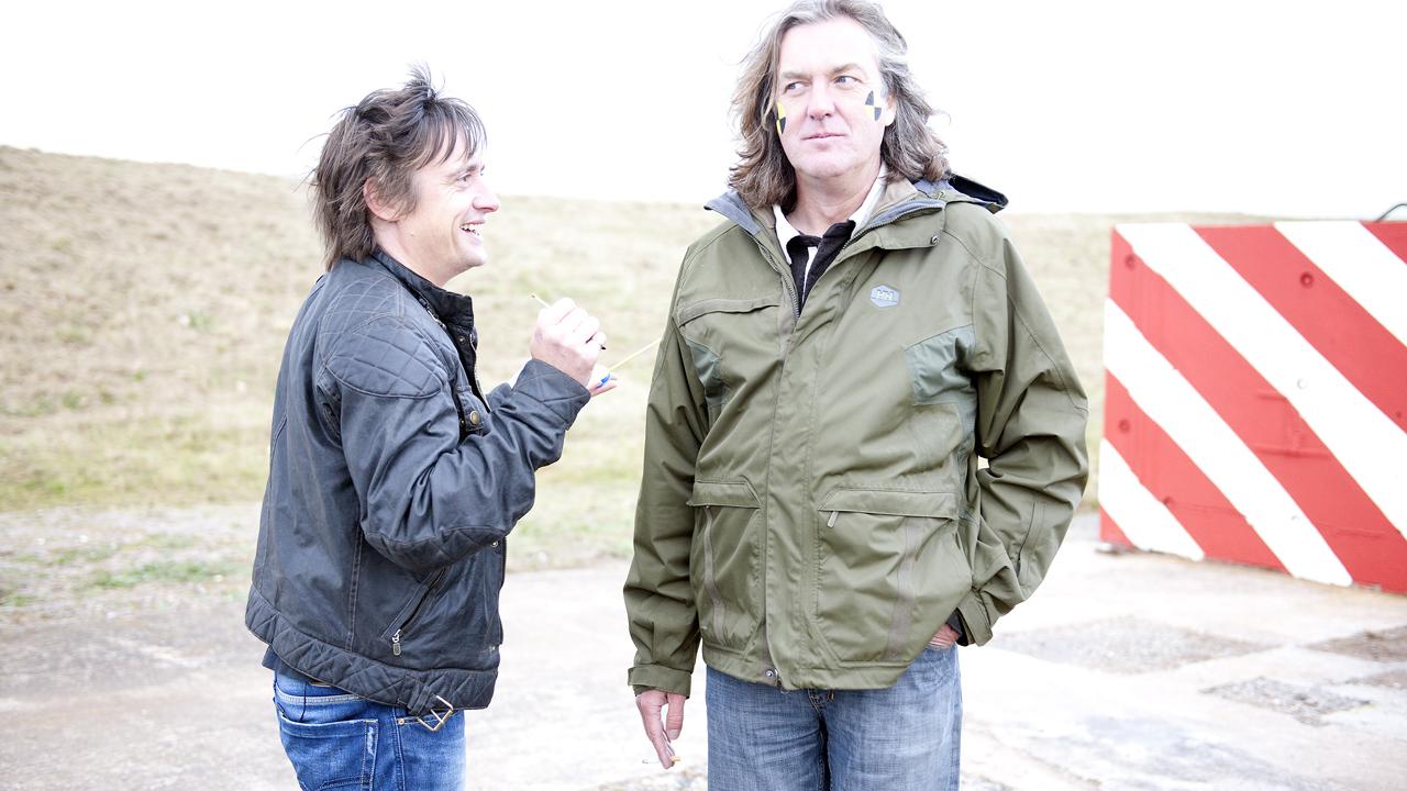 Richard paints James' face for the crash tests