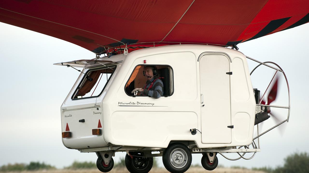 James builds a flying caravan
