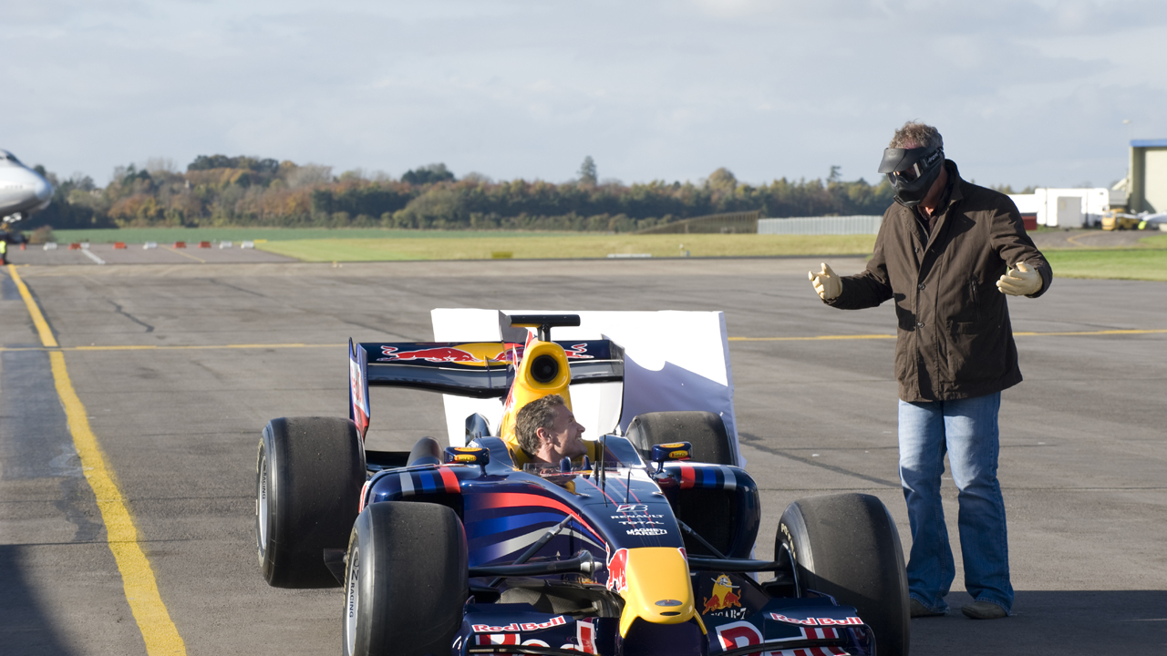 Jeremy and David Coulthard prep