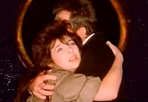Kate Bush and Peter Gabriel in the 'Don't Give Up' video.