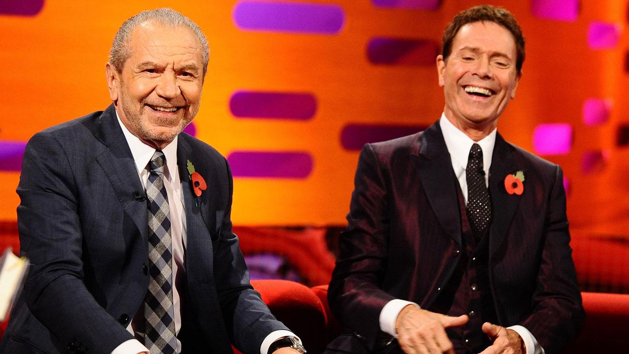 Lord Alan Sugar and Sir Cliff Richard