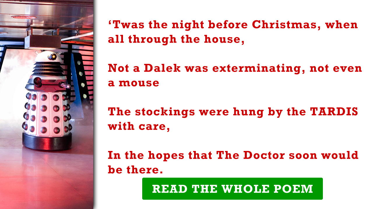 Doctor Who Fans Twas The Night Before Christmas Contest