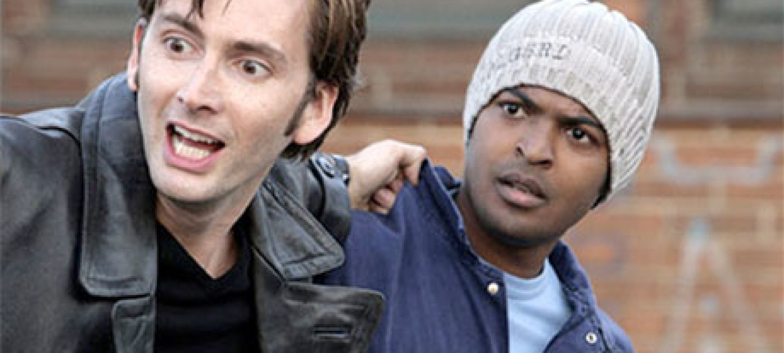 The Tenth Doctor and Mickey Smith