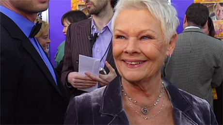 Judi Dench at the premiere of 'The Exotic Marigold Hotel'