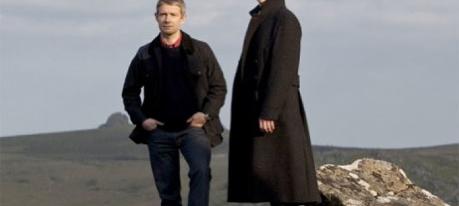Martin Freeman and Benedict Cumberbatch in Sherlock: The Hounds of Baskerville