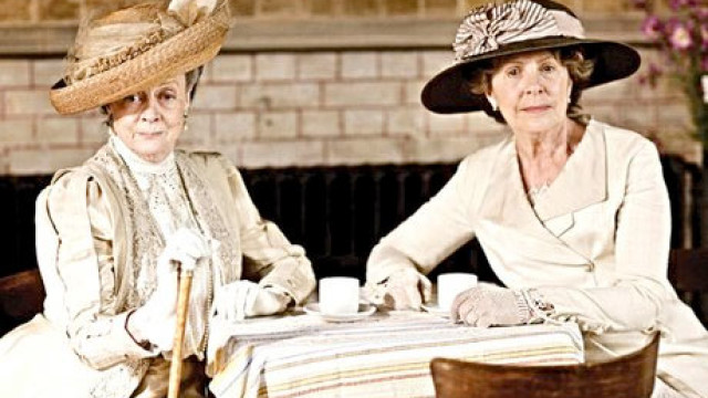 Dame Maggie Smith and Penelope Wilton in 'Downton Abbey'