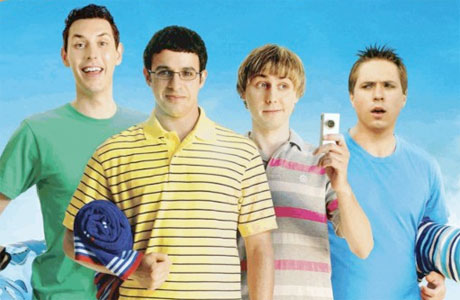 The Inbetweeners (l-r Harrison, Bird, Buckley, Thomas)