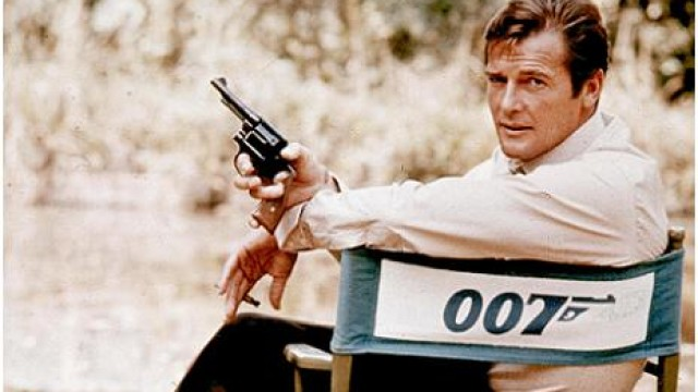 Roger Moore on location in 1972. (Photo via AP)
