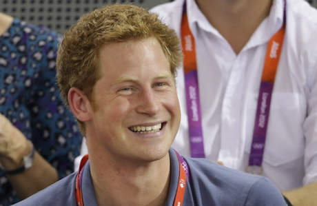 Prince Harry at the Summer Olympics. (AP Photo/Matt Rourke, File)